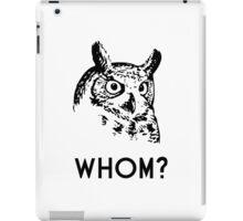 Hoo Who Whom Grammar Owl iPad Case/Skin