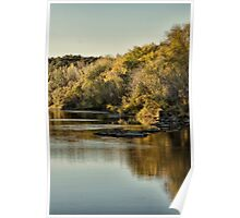 Autumn Morning on the River Poster