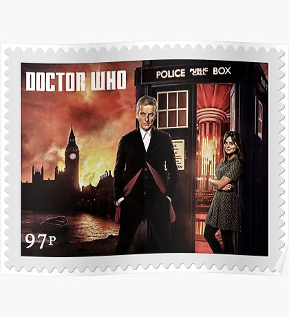 Doctor Who Postage Stamp Poster