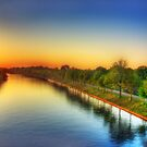 Sunset over Twentekanaal by Christiaan