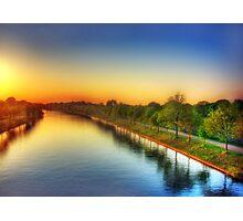 Sunset over Twentekanaal Photographic Print