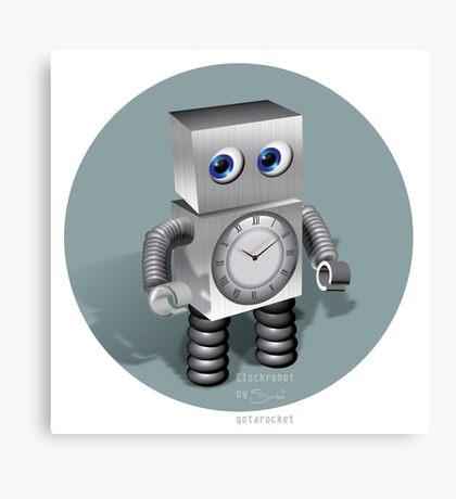 Clockrobot Canvas Print