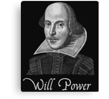 William Shakespeare Will Power Canvas Print