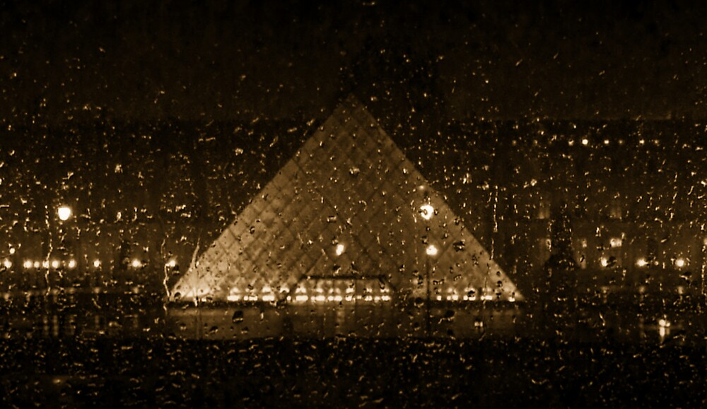Louvre Pyramid in the Rain by Edward Shepherd
