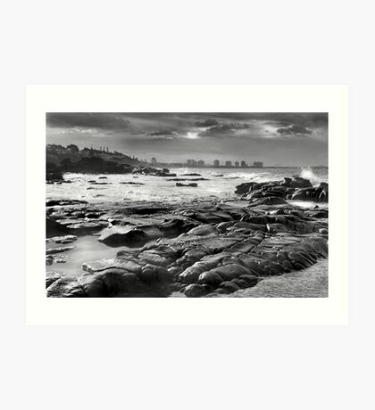 Maroochydore Rocks Art Print