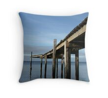 Pier at Campbells Cove Throw Pillow