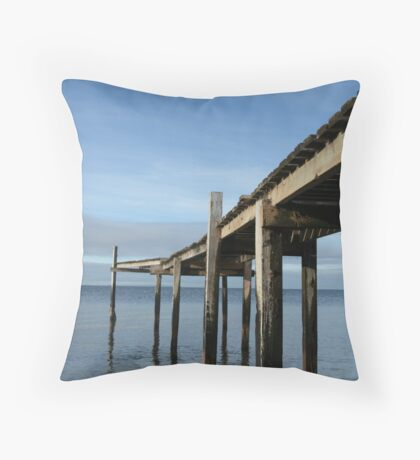 Pier at Campbells Cove Throw Pillow
