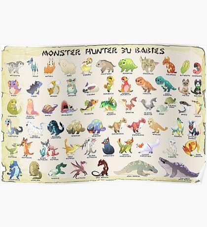 Monster Hunter 3U Babies Poster