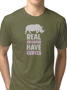 Real Unicorns Have Curves Tri-blend T-Shirt