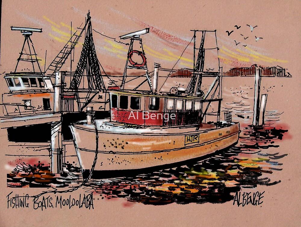 Fishing Boats, Mooloolaba, Sunshine Coast, Queensland by Al Benge