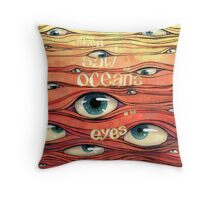 Oceans of Eyes Throw Pillow