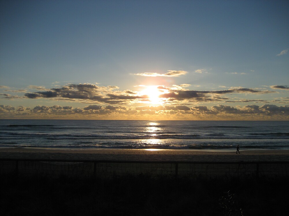 Sunrise thru the clouds  by Rohana