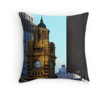 Flinders St. Station Throw Pillow