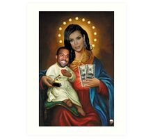 The Virgin Pornstar & Yeezus Art Print