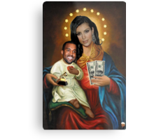 The Virgin Pornstar & Yeezus Metal Print