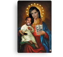 The Virgin Pornstar & Yeezus Canvas Print
