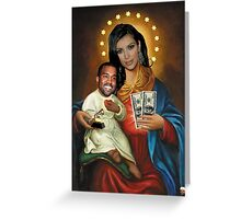 The Virgin Pornstar & Yeezus Greeting Card