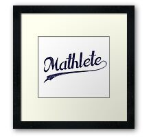 All Star Mathlete Math Athlete Framed Print