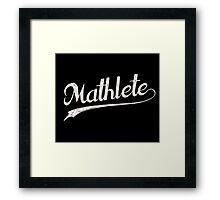 All Star Mathlete Math Athlete Framed Print