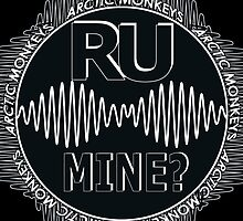 R U Mine? Blck/Wht/Blck by psycheincolour