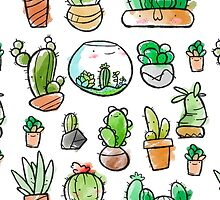 Watercolor Succulents by Gage White