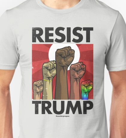 Resist Trump, Fists (Vector Recreation) Unisex T-Shirt