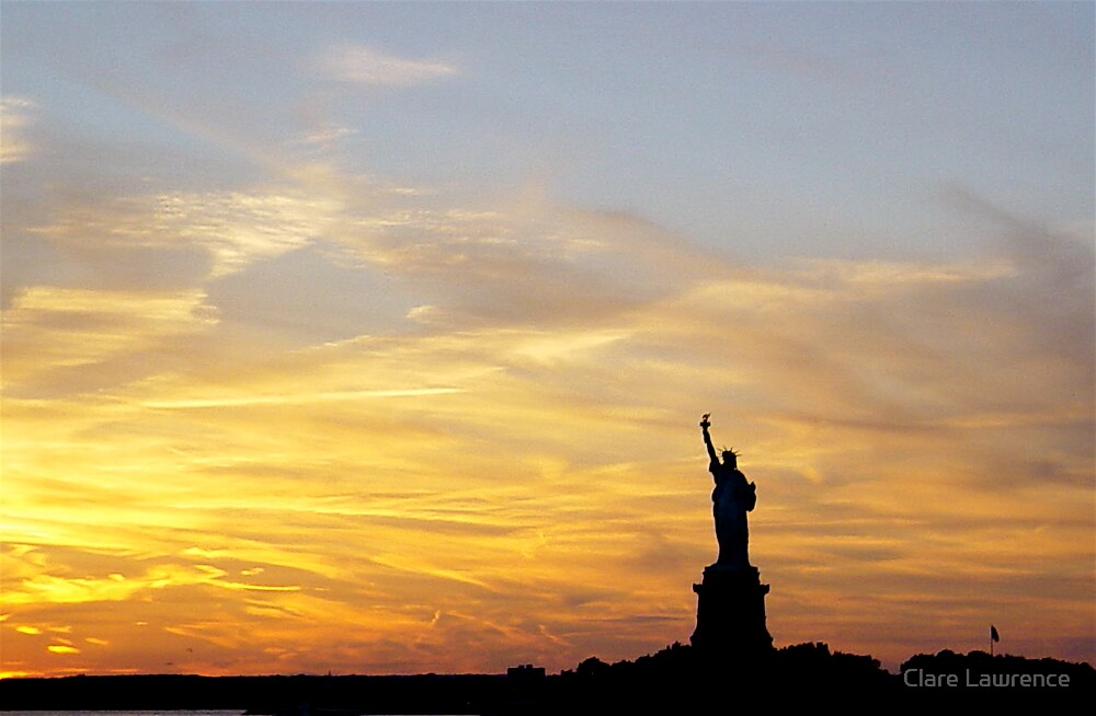 Liberty sunset by Clare Lawrence