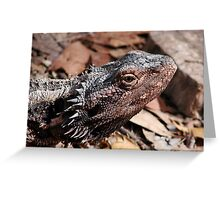 """Whats Up"" Bearded Dragon  Greeting Card"