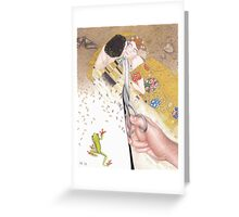 Dissecting Gustav Klimt Greeting Card