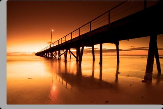 Golden Sands - Semaphore Jetty by KathyT
