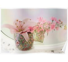 Pink Lily Rainbow Poster