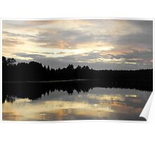 Sunset on the Lake 3 Poster
