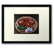 Basket of Veggies Framed Print