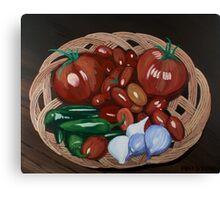 Basket of Veggies Canvas Print