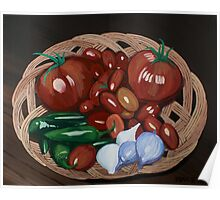 Basket of Veggies Poster