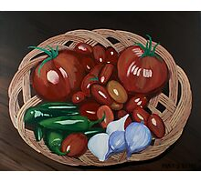 Basket of Veggies Photographic Print