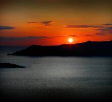 Sunset in Santorini by Simon Mitrovich