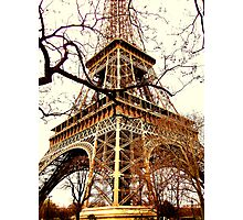 Rustic Eiffel Photographic Print