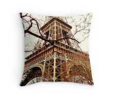 Rustic Eiffel Throw Pillow