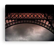 Moody Eiffel Canvas Print