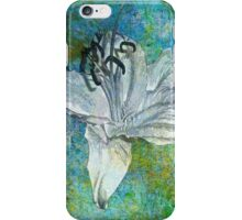 White Lily on Blue iPhone Case/Skin