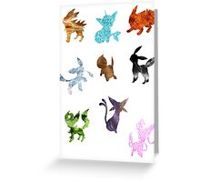 Eeveelutions // Together Greeting Card