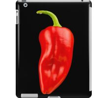 Red Pepper on Black Backgorund iPad Case/Skin
