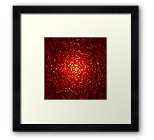 Red Pulse Framed Print