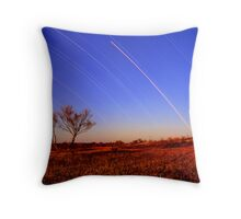 Star Trails,Cameron Corner.QLD Throw Pillow