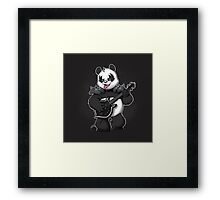 Heavy Metal Panda Framed Print