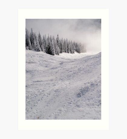 Down the mountain ... Art Print