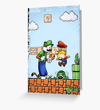 Super Calvin & Hobbes Bros. Greeting Card