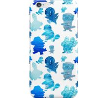 Water Type Starters Pattern iPhone Case/Skin