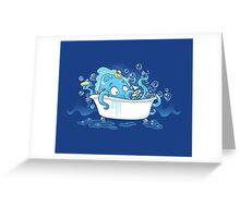 Kracken Bath Greeting Card